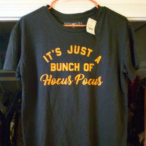 Fifth Sun L 100% cotton black orange shirt NWT